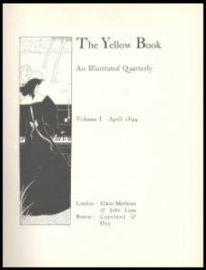 Front cover by Aubrey Beardsley. Woman figure plays piano outdoors.